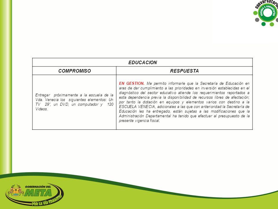 EDUCACION COMPROMISO RESPUESTA