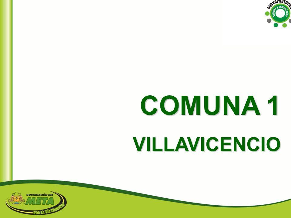 COMUNA 1 VILLAVICENCIO