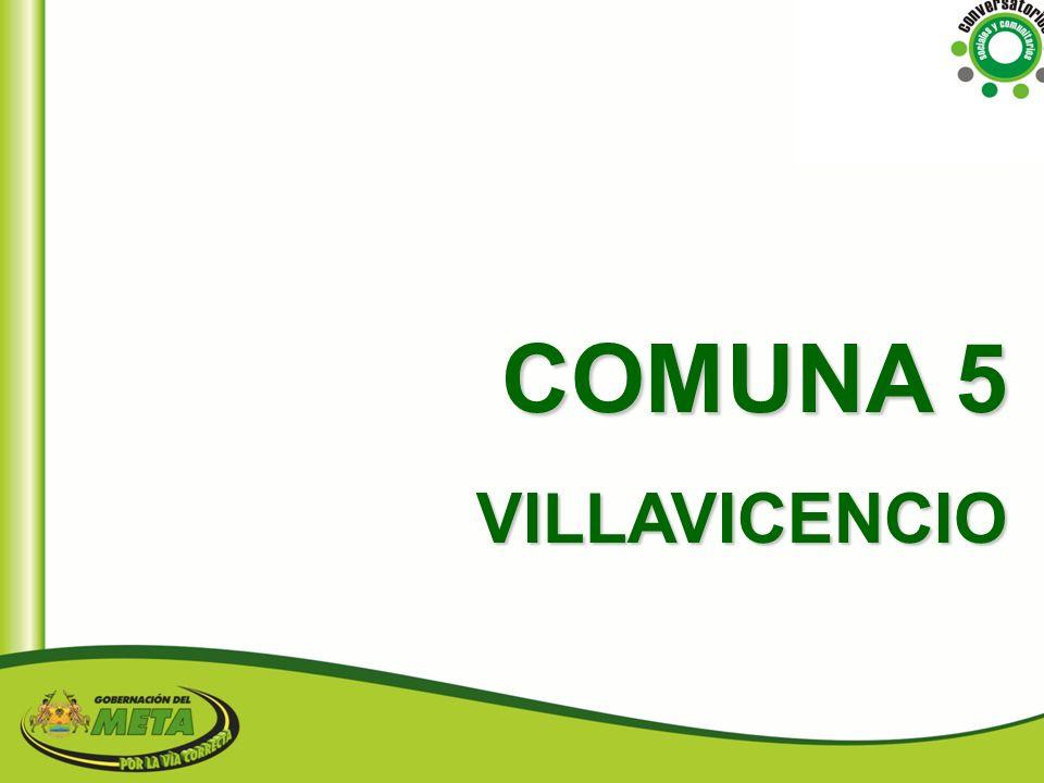 COMUNA 5 VILLAVICENCIO