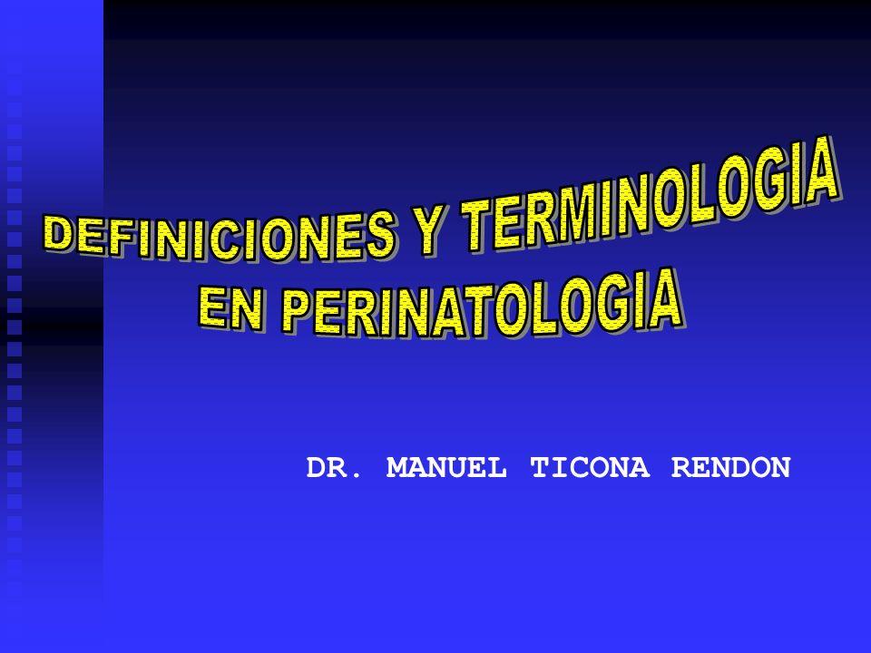 DEFINICIONES Y TERMINOLOGIA