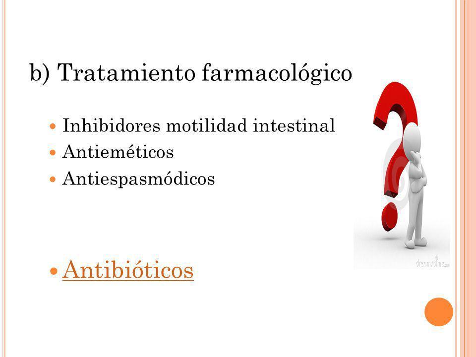 b) Tratamiento farmacológico