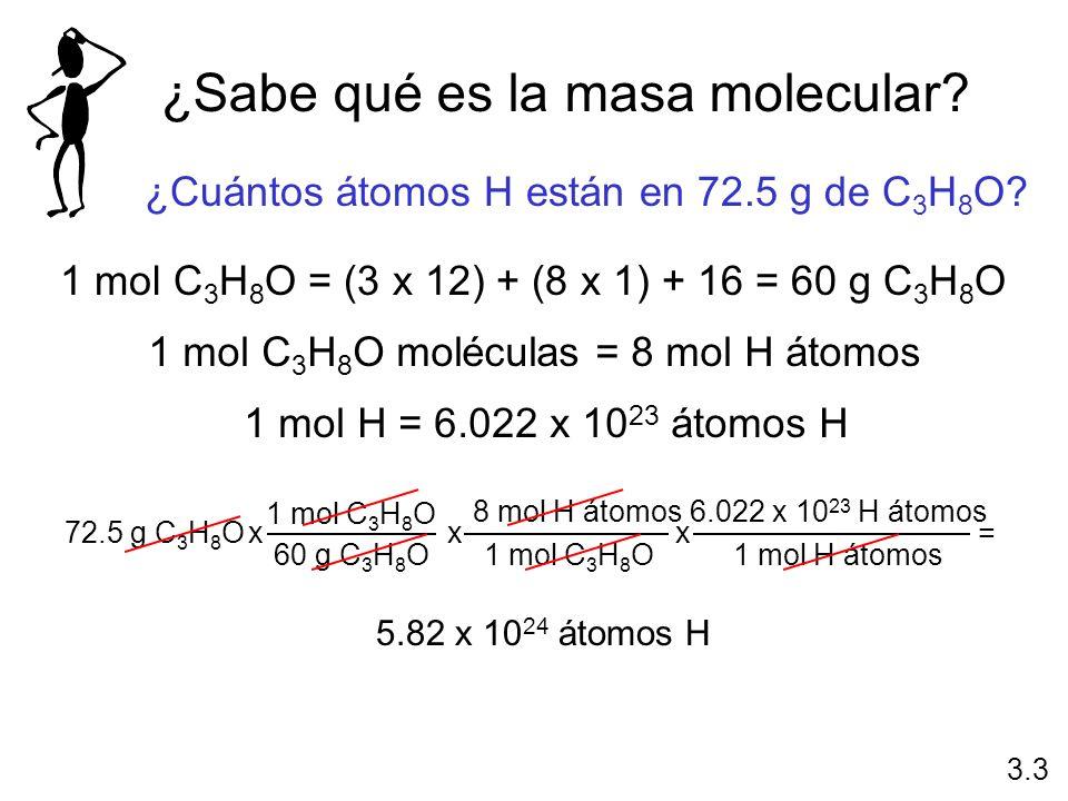 ¿Sabe qué es la masa molecular