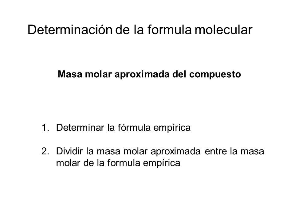 Determinación de la formula molecular