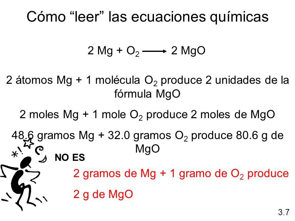 Cómo leer las ecuaciones químicas