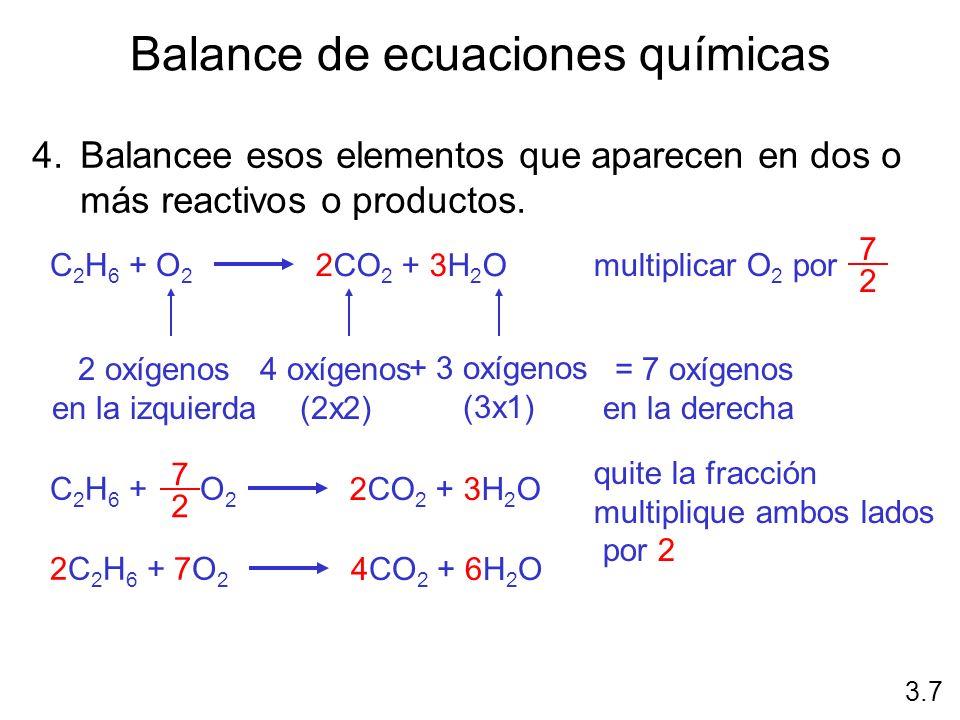 Balance de ecuaciones químicas