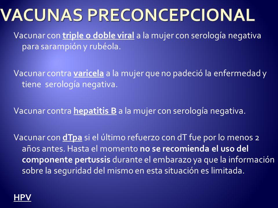 VACUNAS PRECONCEPCIONAL