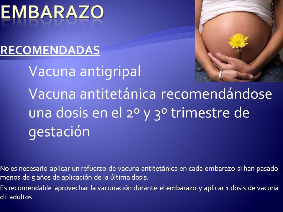 EMBARAZO Vacuna antigripal