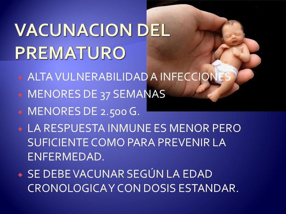 VACUNACION DEL PREMATURO
