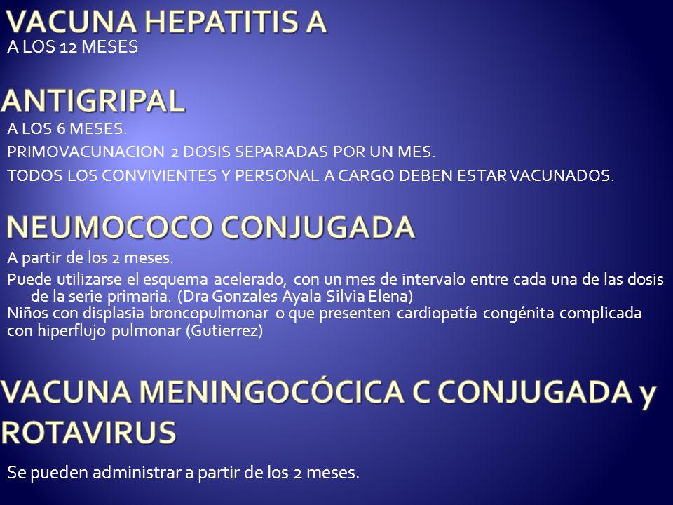 VACUNA MENINGOCÓCICA C CONJUGADA y ROTAVIRUS