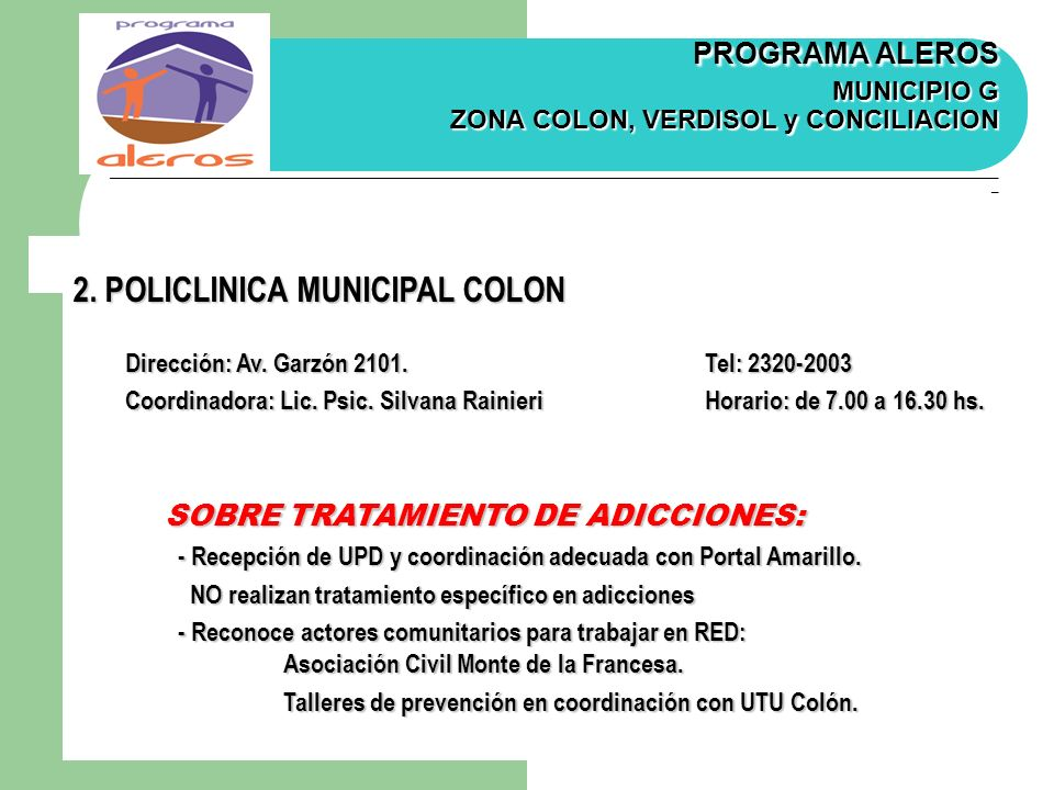 2. POLICLINICA MUNICIPAL COLON