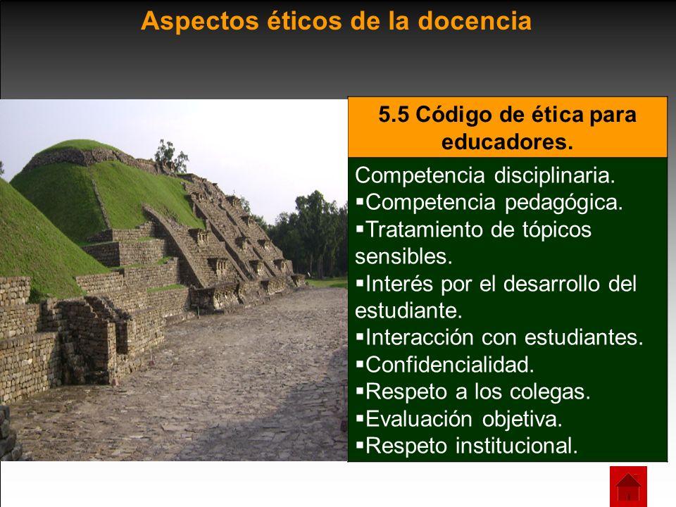 5.5 Código de ética para educadores.