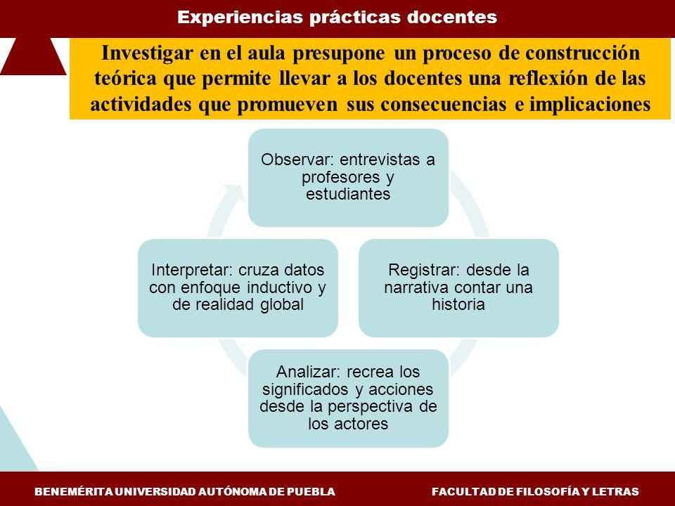 Experiencias prácticas docentes
