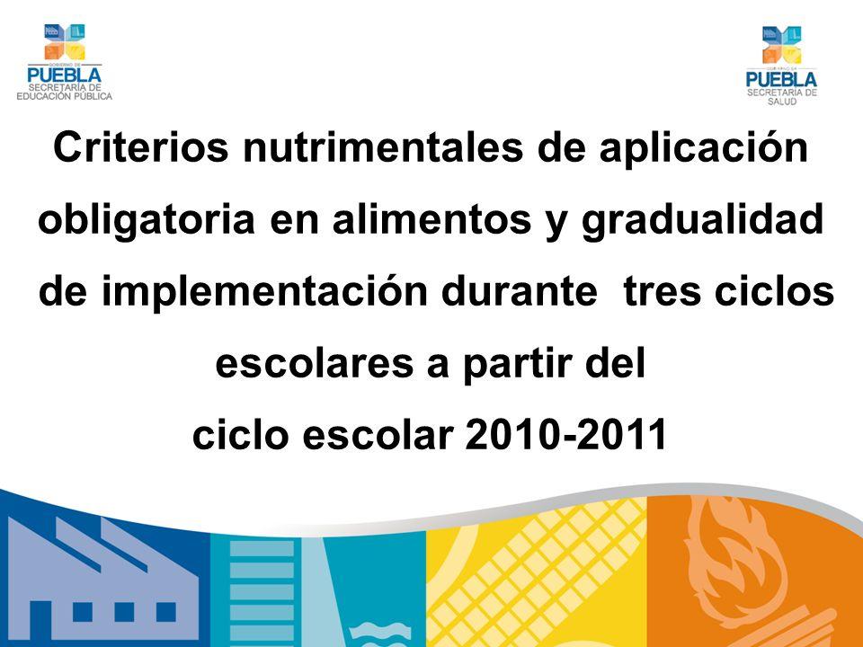 Criterios nutrimentales de aplicación