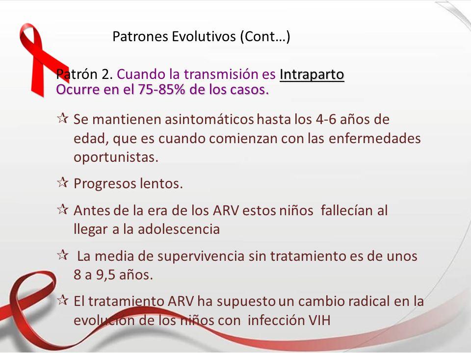 Patrones Evolutivos (Cont…)