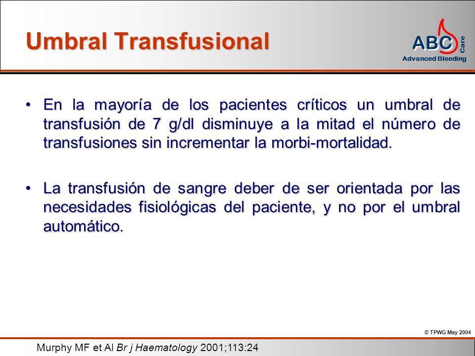 Umbral Transfusional
