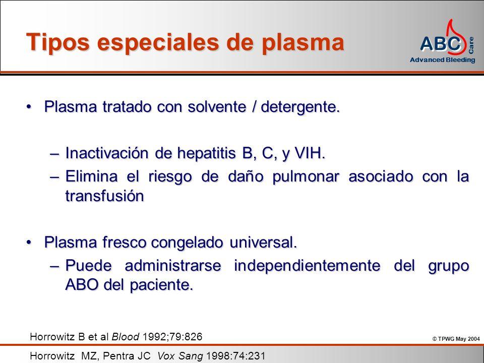 Tipos especiales de plasma