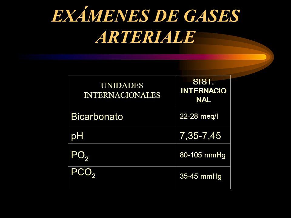 EXÁMENES DE GASES ARTERIALE