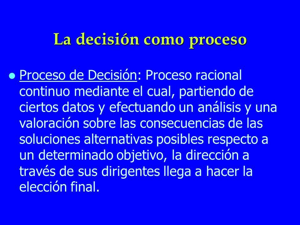 La decisión como proceso