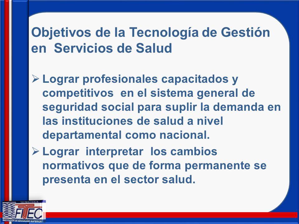 Objetivos de la Tecnología de Gestión en Servicios de Salud