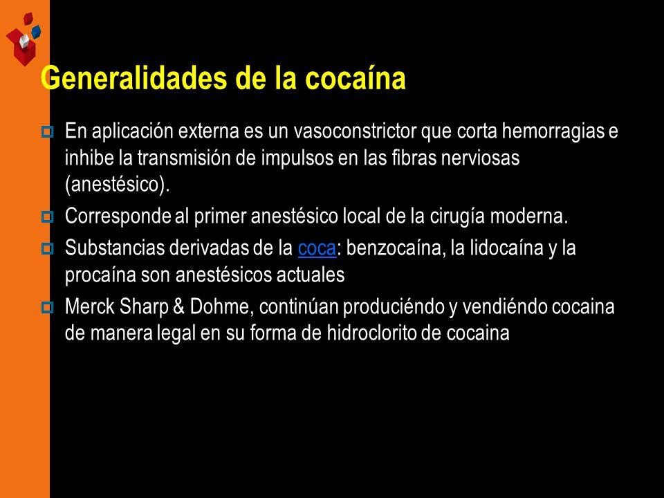 Generalidades de la cocaína