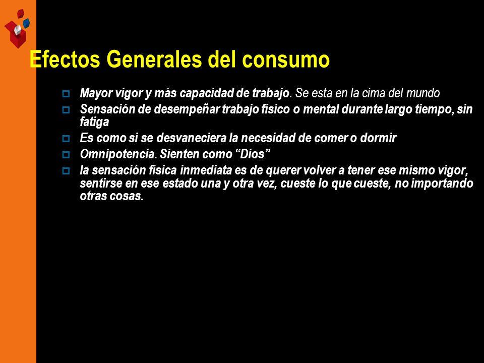 Efectos Generales del consumo