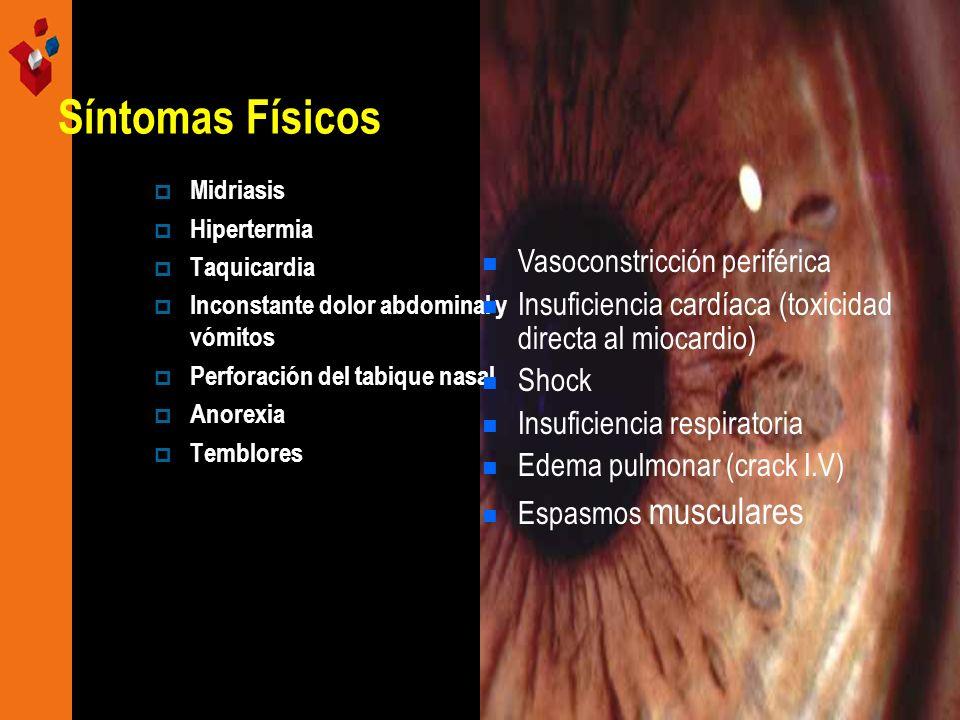 Síntomas Físicos Vasoconstricción periférica