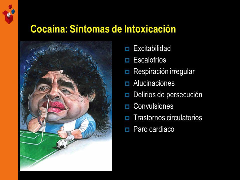 Cocaína: Síntomas de Intoxicación