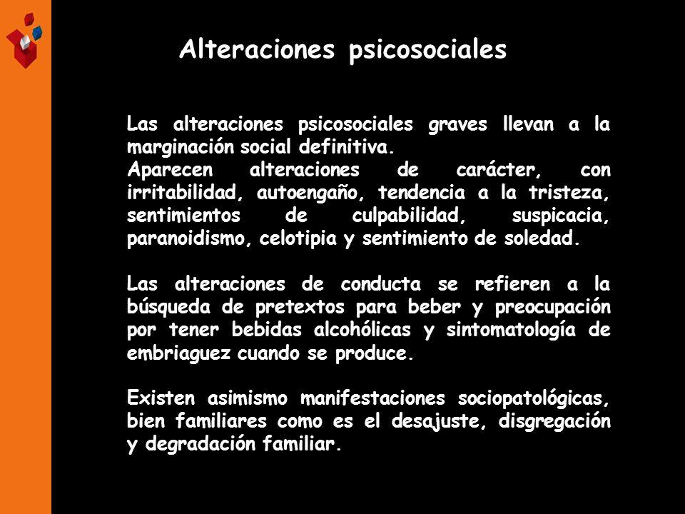 Alteraciones psicosociales