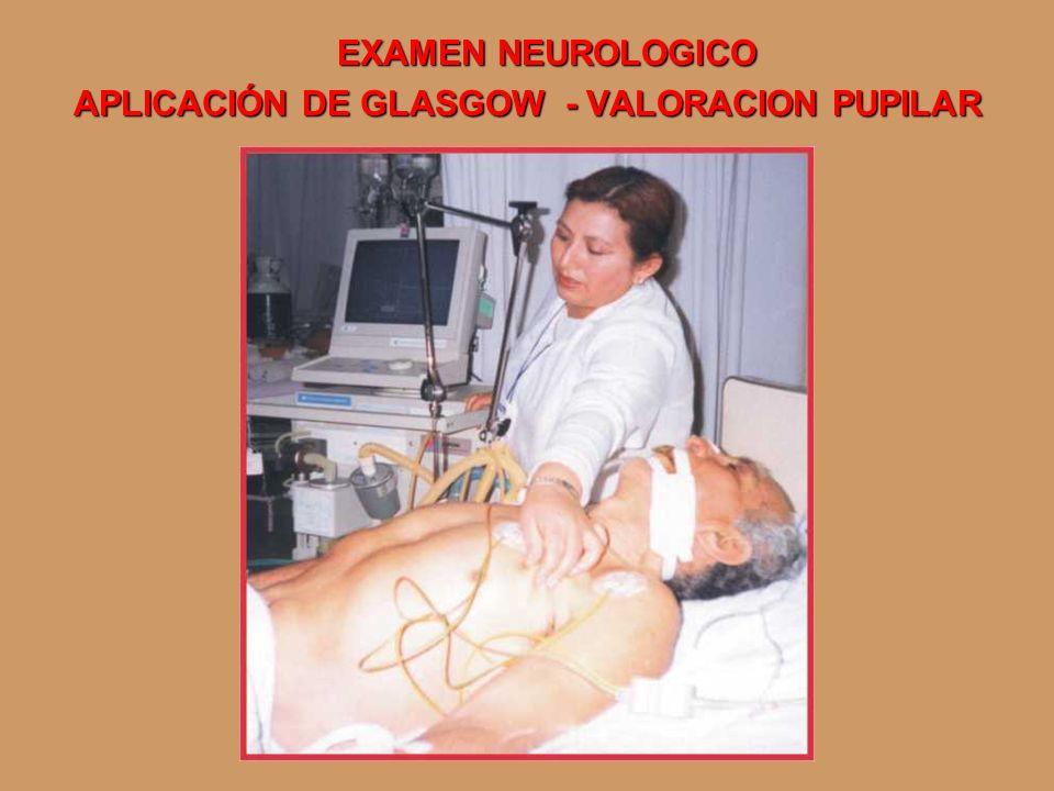 APLICACIÓN DE GLASGOW - VALORACION PUPILAR
