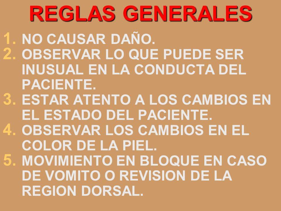 REGLAS GENERALES NO CAUSAR DAÑO.