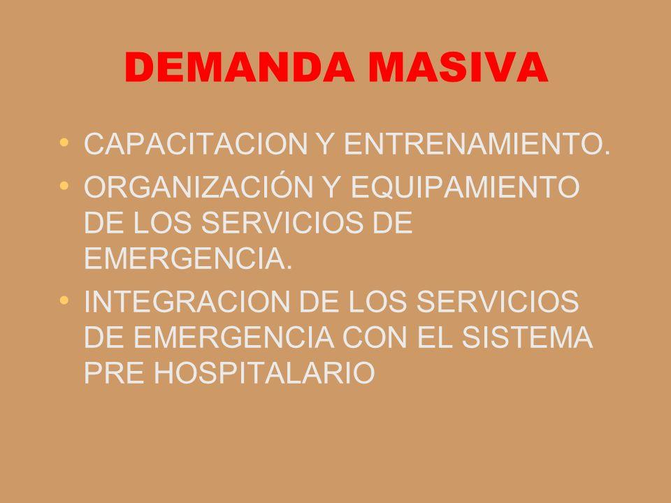 DEMANDA MASIVA CAPACITACION Y ENTRENAMIENTO.