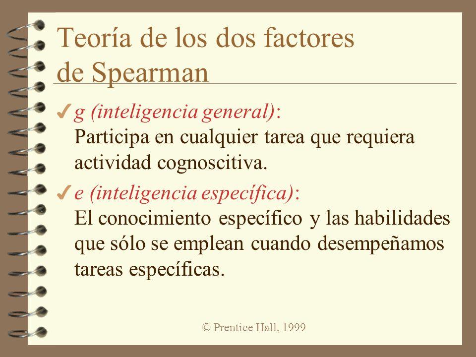 Teoría de los dos factores de Spearman
