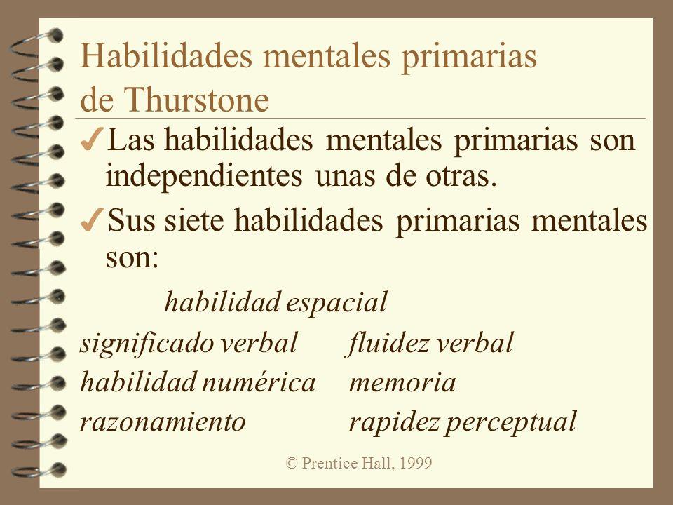 Habilidades mentales primarias de Thurstone