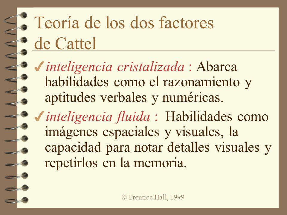 Teoría de los dos factores de Cattel