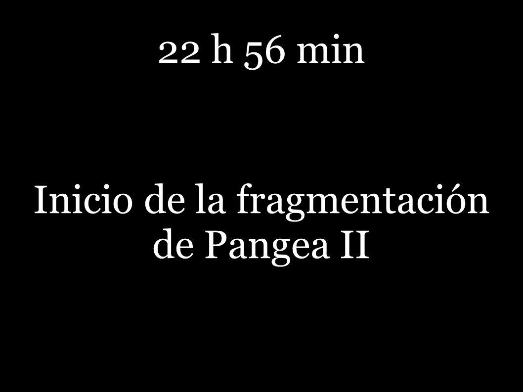Inicio de la fragmentación de Pangea II