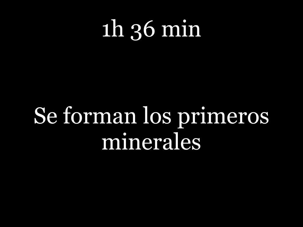 Se forman los primeros minerales