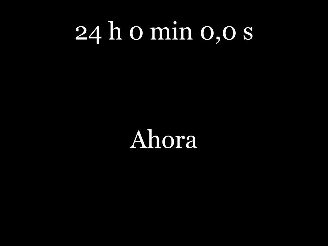 24 h 0 min 0,0 s Ahora