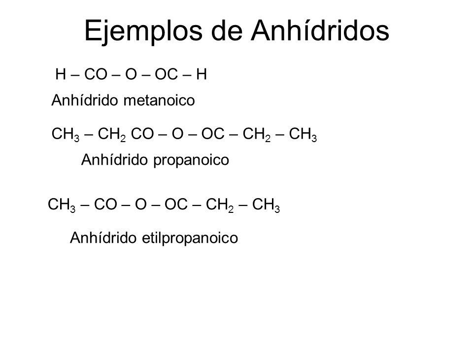 Ejemplos de Anhídridos