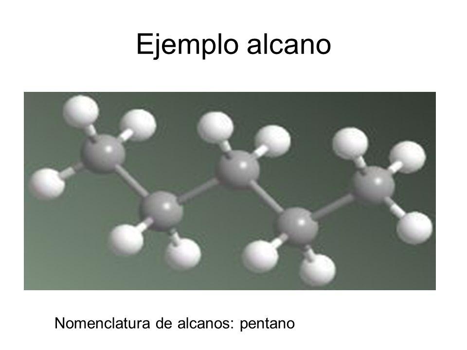 Ejemplo alcano Nomenclatura de alcanos: pentano