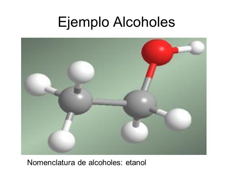 Ejemplo Alcoholes Nomenclatura de alcoholes: etanol