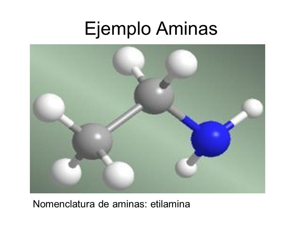 Ejemplo Aminas Nomenclatura de aminas: etilamina