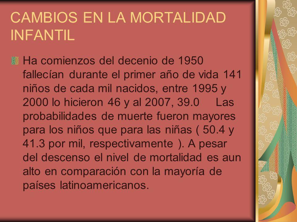 CAMBIOS EN LA MORTALIDAD INFANTIL