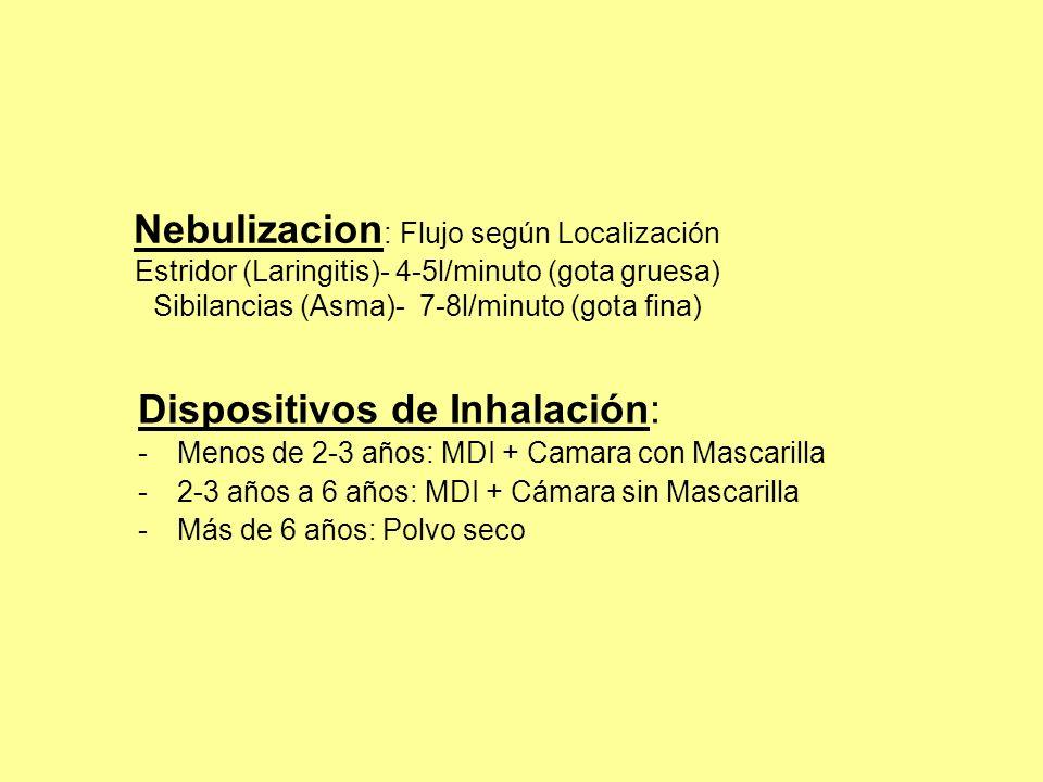 Dispositivos de Inhalación:
