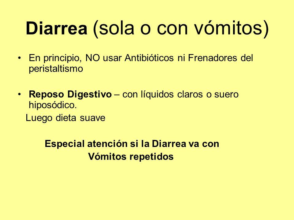 Diarrea (sola o con vómitos)