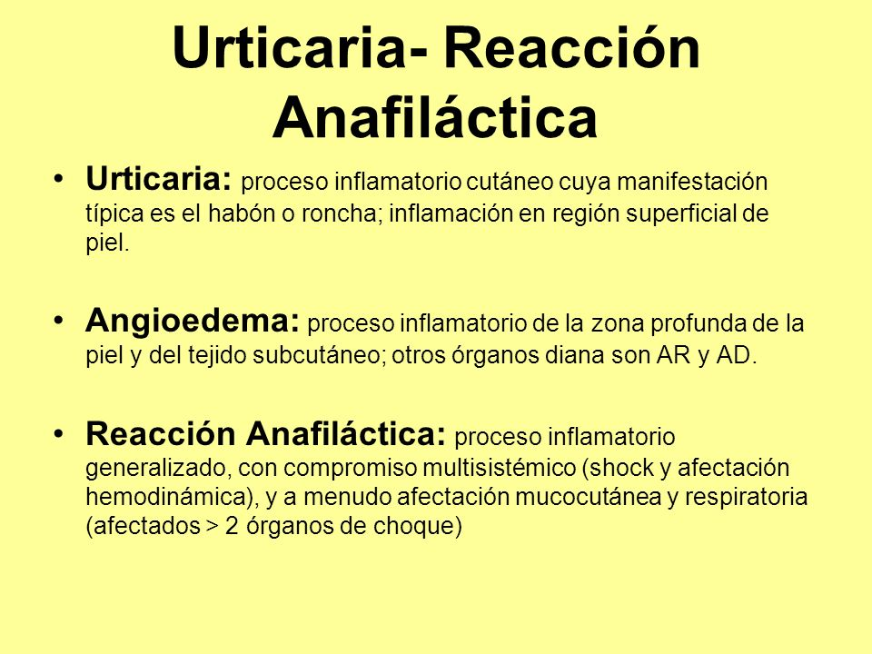 Urticaria- Reacción Anafiláctica