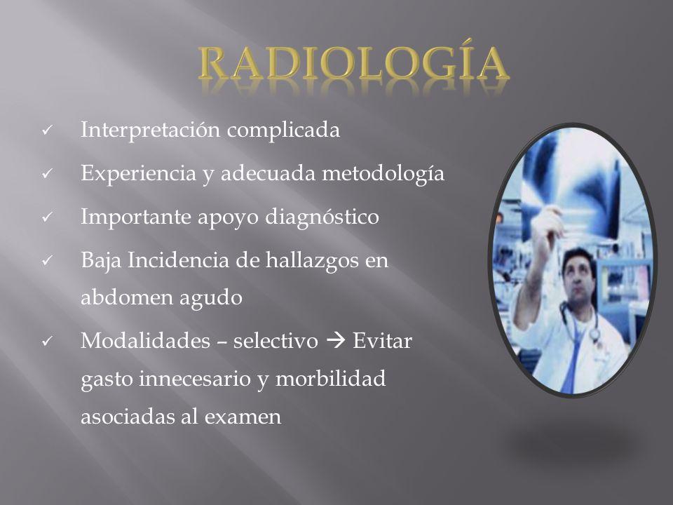 RADIOlogía Interpretación complicada