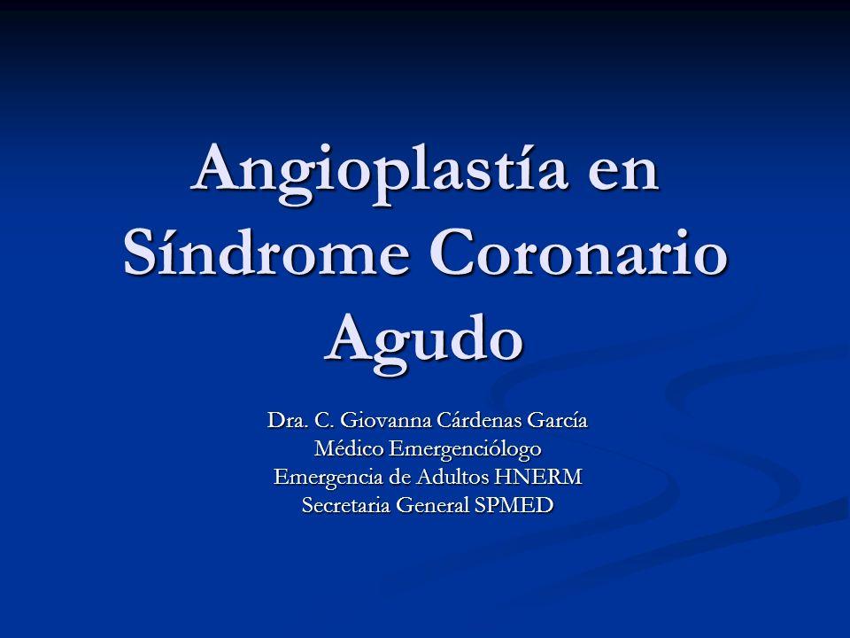 Angioplastía en Síndrome Coronario Agudo