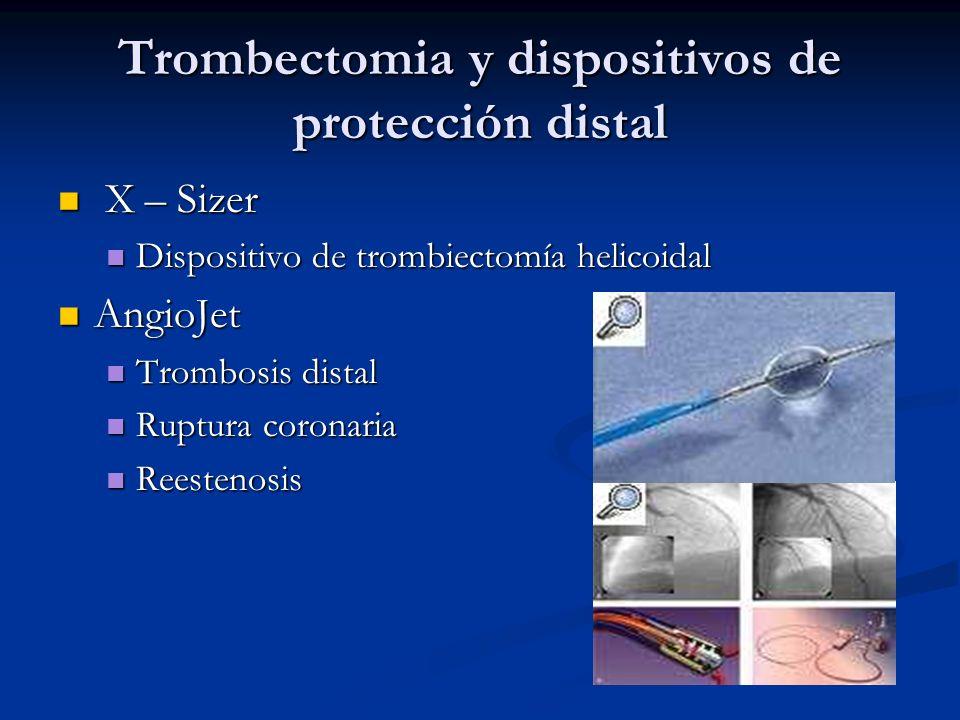 Trombectomia y dispositivos de protección distal