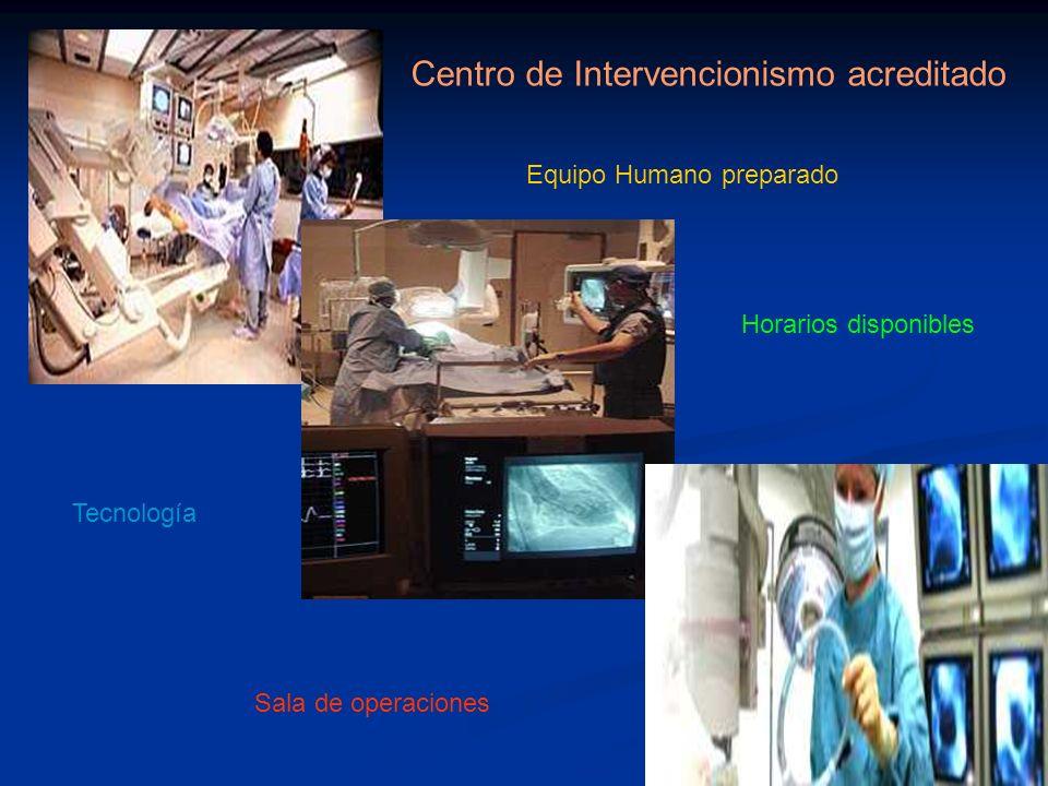 Centro de Intervencionismo acreditado