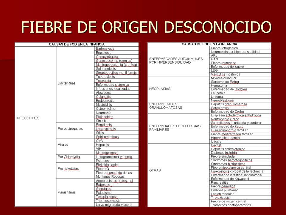 FIEBRE DE ORIGEN DESCONOCIDO
